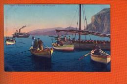 1  Cpa Capri Grande Marina Arrivo Del Piroscafo - Italien