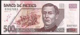 MEXICO  P120e ?   500  PESOS  28.10.2008  Serie AU        UNC. - Mexico