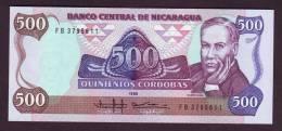 NICARAGUA - 500 Cordobas 1985 - Unc - Nicaragua