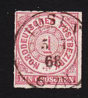 North German Confederation, Scott # 4, Used, Number, Issued 1868 - North German Conf.