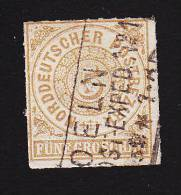 North German Confederation, Scott # 6, Used, Number, Issued 1868 - North German Conf.