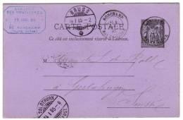 Entier Postal EP - Y 89 CP2 - Sage 10c Noir - Repiqué Société Civile Des Houllières De Ronchamp - Oblitéré - Bijgewerkte Postkaarten  (voor 1995)