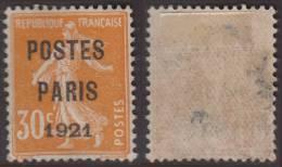 Superbe Préo N° 29 Usagé TB Bien Centré (cote: +100€) - 1893-1947