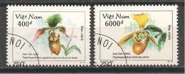 AF323 VIETNAM  2 Zegels Gestempeld - Orchidées