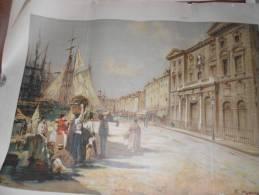 13 MARSEILLE PORT PUBLICITE LITHO CHROMO METIER MARCHE PEINTRE MAURY - Old Paper