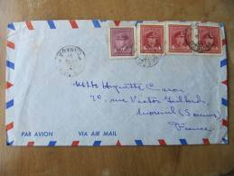 4-445 Canada Georges VI Enveloppe Pour France Moreuil Somme 1947 Quebec - Sin Clasificación