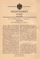 Original Patentschrift - H. Hinrichsen In Hamburg , 1901 , Panorama - Camera , Kamera , Photographie !!! - Fotoapparate