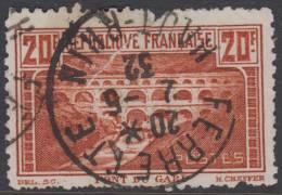 *RARE* Le Pont Du Gard Dentelé 11 ! (Y&T N° 262B, Cote 425€) - Used Stamps