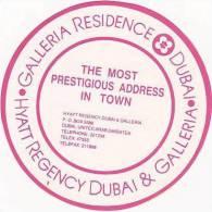 DUBAI HYATT REGENCY HOTEL VINTAGE LUGGAGE LABEL - Hotel Labels