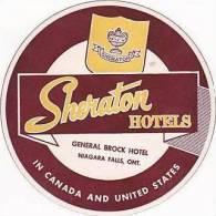 CANADA NIAGARA FALLS GENERAL BROCK HOTEL VINTAGE LUGGAGE LABEL - Hotel Labels