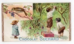 Chromo SUCHARD, 128 / 4, Thème: à La Chasse, Grive - Suchard