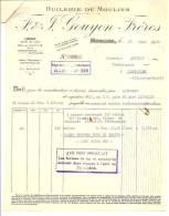 HUILERIE DE MOULINS - Ets GOUYON Frères - Usine Route De Lyon - Datée 1941 - Alimentaire