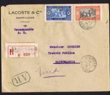 1936  Lettre Locale Recommandée De Saint-Louis Yv 98,  76 - Sénégal (1887-1944)
