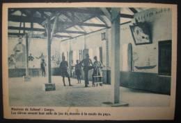 Mission De Scheut : Congo, Les élèves Ornent La Salle De Jeu De Dessins à La Mode Du Pays - Congo Belge - Autres