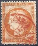 40 C. Oblitéré En Rouge - 1870 Siege Of Paris