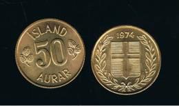 ISLANDIA - ICELAND -  50  Aurar  1974 Sc  KM17 - Islandia