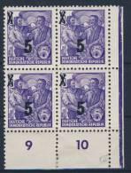 DDR Michel No. 435 g X II ** postfrisch Viererblock Eckrand