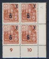 DDR Michel No. 436 g X II ** postfrisch Viererblock Eckrand
