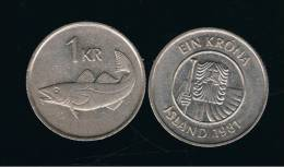 ISLANDIA - ICELAND -  1 Korona  1981  KM27 - Islande