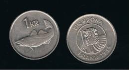 ISLANDIA - ICELAND -  1 Korona  1984  KM27 - Islandia