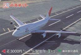 Carte Prépayée Japon - AVION - JAL 1/4 - Airplane Airline Japan Prepaid Card - Flugzeug Passnet T Karte - 329 - Vliegtuigen