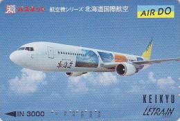 Carte Prépayée Japon - AVION / AIR DO - Airplane Airline Japan Prepaid Card - Flugzeug Keikyu Karte - 381 - Avions