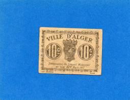 Algérie- Billet 10 Centimes- 1917-ville D´Alger. 2 Scans - Argelia