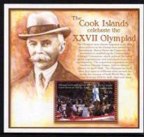 AITUTAKI 2000 OLYMPIC GAMES In AUSTRALIA M/SHEET MNH PIERRE De COUBERTIN - Summer 2000: Sydney