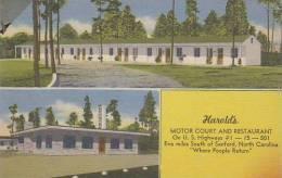 North Carolina Sanford Molor Court And Restaurant