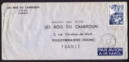 1961  Lettre Avion Pour La France FIDES  25 Fr Groupe De Prophylaxie  Yv 303 - Cameroun (1915-1959)