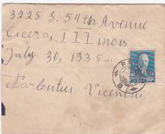 Lithuania 1935 Cover Sent To USA - Litauen
