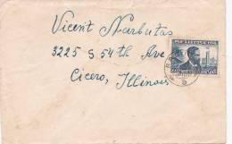 Lithuania 1938 Cover Sent To Llinois, USA - Lithuania