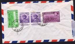 1952  Lettre Avion Pour La Grande Bretagne  Halié Selassié Et Paysages - Ethiopie