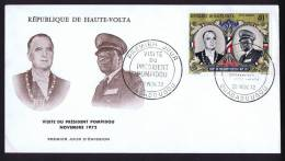 1972  Visite Du Président Pompidou  FDC - Obervolta (1958-1984)