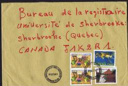 2012  Lettre Grand Format Pour Le Canada  Travaux Champêtres 1000f. X 2,  Safari Chasse 100f., Bronze - Burkina Faso (1984-...)