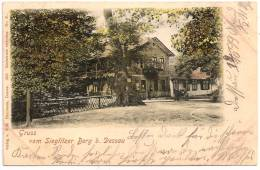 GRUSS Vom SIEGLITZER BERG B. DESSAU +++++++ To Wien, Austria, 1899 ++++++ Wilh. Herrmann, Dessau, 1898, #31 ++++++ - Dessau