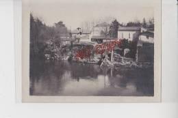 Photo Famille Beau Format Inondations Castres Tarn Mars 1930 Photo Avec Explications Au Dos Très Intéressant - Lieux