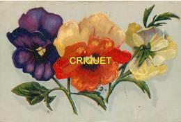 Illustrateur Genre Klein, Pensées Tricolores, Cachet Rouge Milano + Censure Italienne + Cachet 92ème Regg. Fanteria 1917 - Illustrators & Photographers