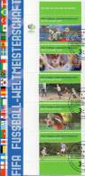 Zur Fussball-WM 2006 1.Ausgabe BRD 2324/8 SST 11€ Nationaltrikot Kopfball Tor-Jubel Spieler Soccer Document Of Germany - Covers