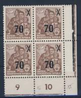 DDR Michel No. 442 g X I ** postfrisch Viererblock Eckrand