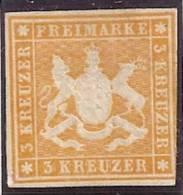 ALEMANIA 1858 (WURTEMBERG) - Yvert #12 - MLH (*) - Wuerttemberg