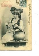 ALSACE ALSACIENNE ELSASSERIN COSTUME SPECIALITES DE STRASBOURG  CHOUCROUTE BERGERET 1904 - Alsace