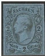 ALEMANIA 1855/66 (SAXE) - Yvert #9 - MLH * - Saxony