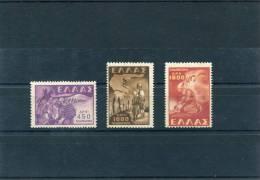 "1949-Greece- ""Children Abduction"" Complete Set MNH (1000dr.&1800dr. Some Foxing) - Greece"