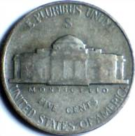 1944-S, UNITED STATES, WW2 SILVER NICKEL (5cents), - 1938-…: Jefferson