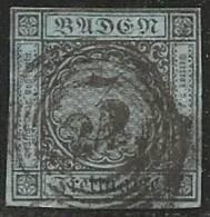 ALEMANIA 1853/58 (BADEN) - Yvert #7 - VFU - Baden