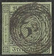 ALEMANIA 1853/58 (BADEN) - Yvert #6 - VFU - Baden