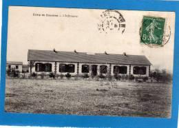 02 - CAMP DE SISSONNE -L'Infirmerie . Cpa Année 1909 - Sissonne