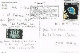 MONACO - Marcophilie-Flamme Champoinnats Internationaux  De Tennis MONTE CARLO - 19 Au 27 Avril 1986-SCANS RECTO VERSO - Marcophilie - EMA (Empreintes Machines)