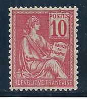 FRANCIA 1900/01 - Yvert #112 - MLH * - Nuevos